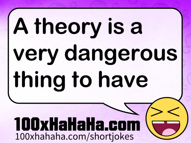 A theory is a very dangerous thing to have