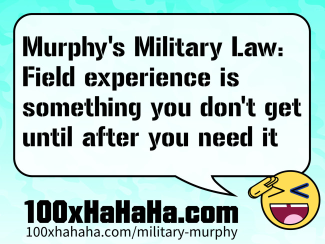 Murphy's Laws for the military