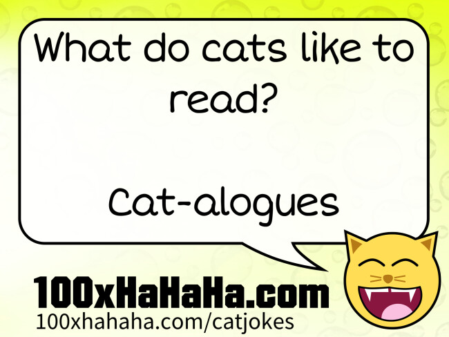 What do cats like to read? / / Cat-alogues