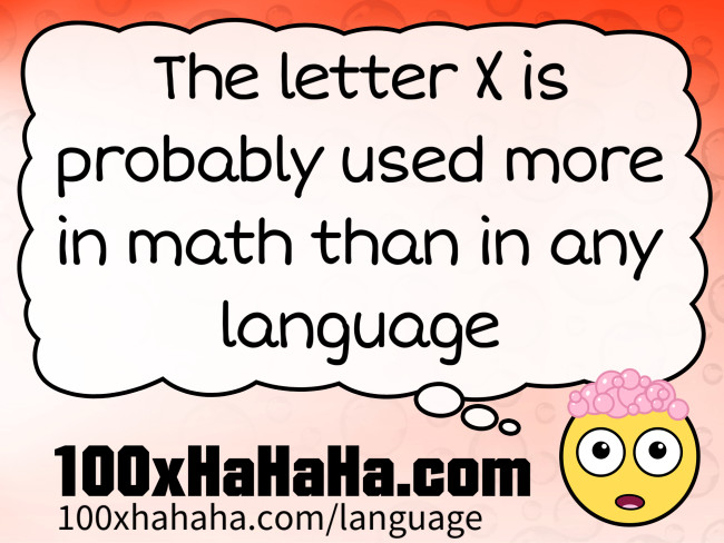 The letter X is probably used more in math than in any language