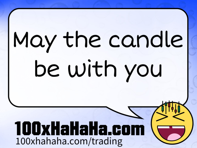 Litecoin joke: May the candle be with you