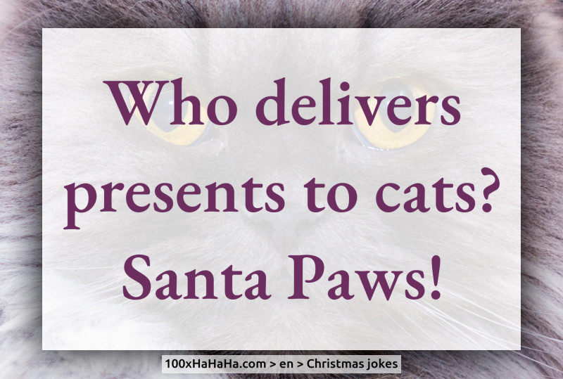 Who delivers presents to cats? Santa Paws!