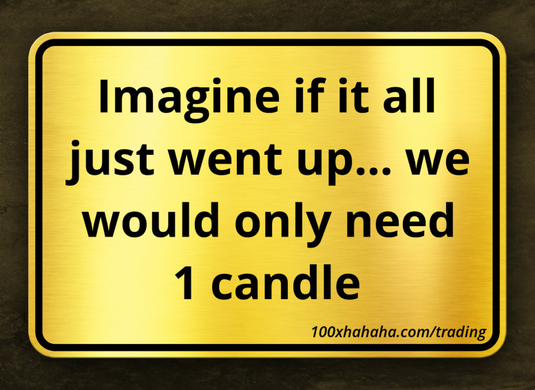 Imagine if it all just went up... we would only need 1 candle