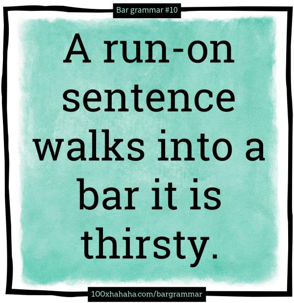 Run-on sentence example