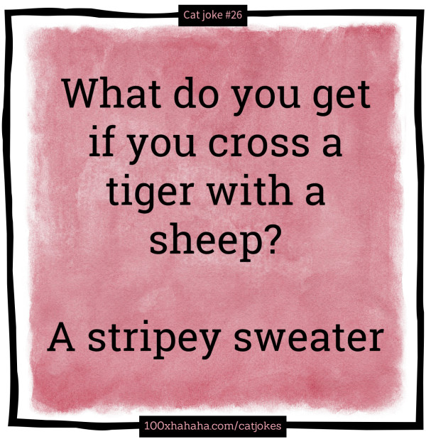 What do you get if you cross a tiger with a sheep? / / A stripey sweater