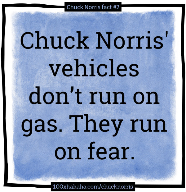 top 100 chuck norris facts Chuck norris jokes (91 to 100) - jokes about chuck norris chuck norris facts, and other funnty chuck norris related jokes these are the jokes listed 91 to 100.
