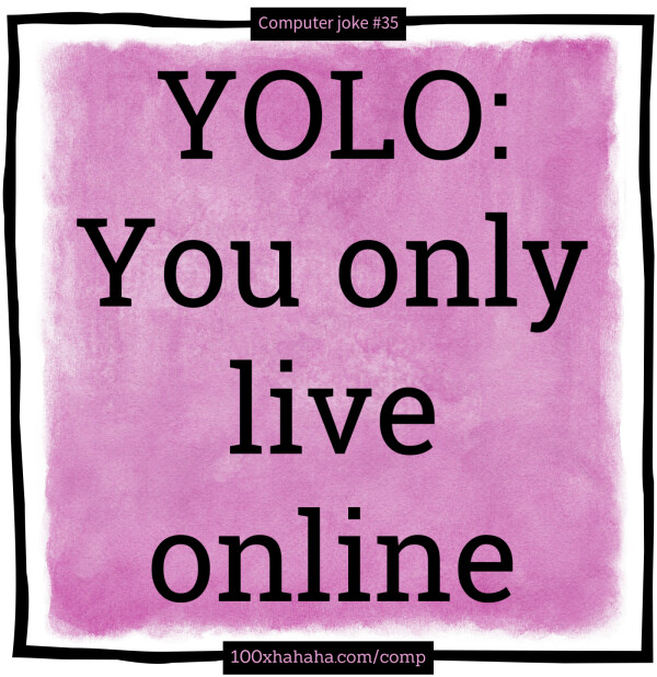 YOLO: You only live online