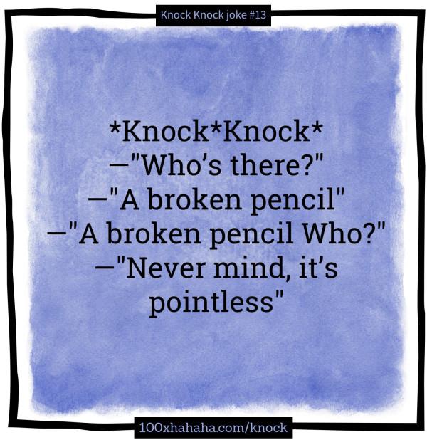 pencil joke pointless