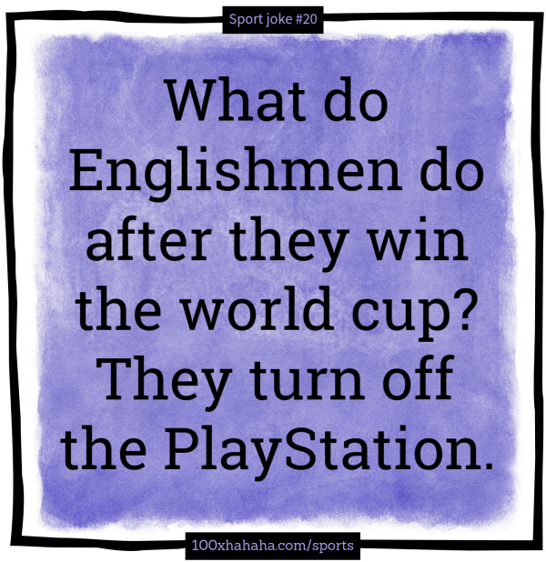 Sport Joke Image They Turn Off The Playstation