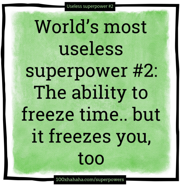 Witze auf Englisch über die nutzlosesten Superkräfte