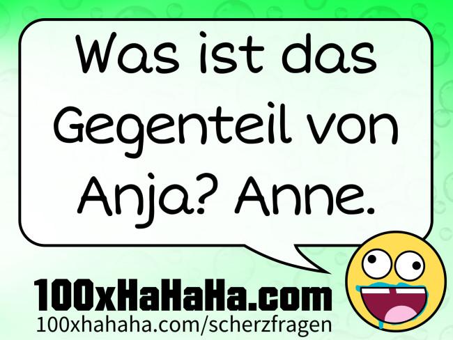 Unsinnsfrage: Was ist das Gegenteil von Anja? Anne